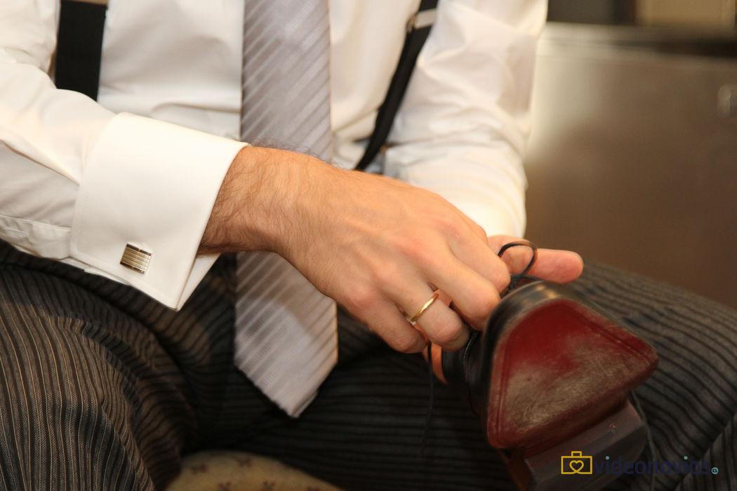 Detalle zapatos - Preparación del novio