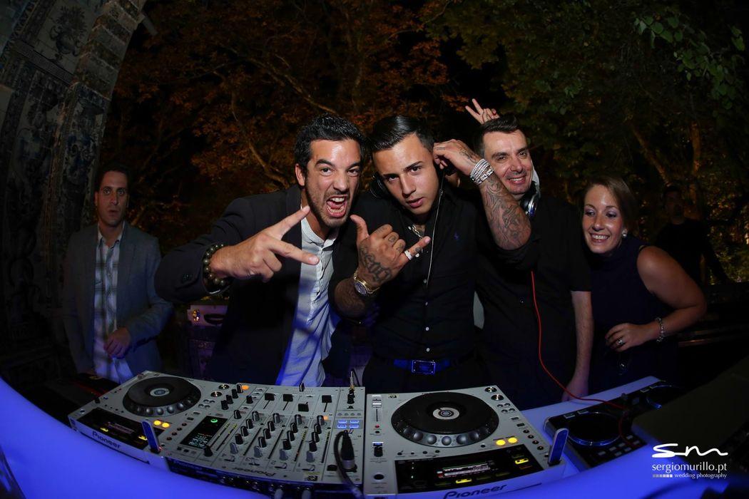 DJ Diogo Campos com Lorenzo Carvalho