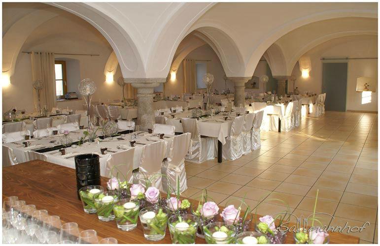 Beispiel: Gewölbesaal, Foto: Sallmannhof.
