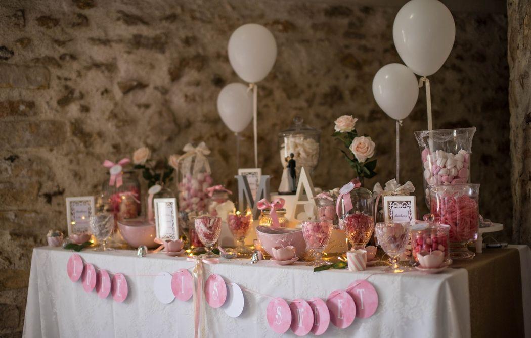 LADY NANNY Mariages_Création de Candy Bar sur-mesure
