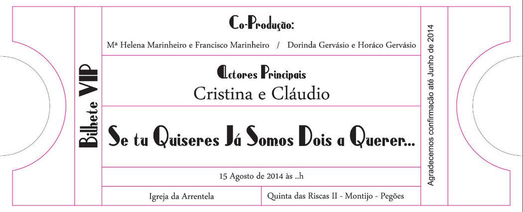 Convite Bilhete de Cinema