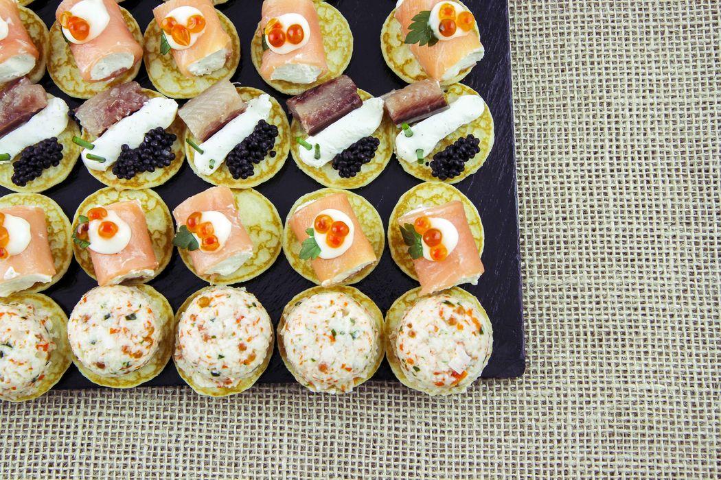 Blinis AGA Catering de Gourmet