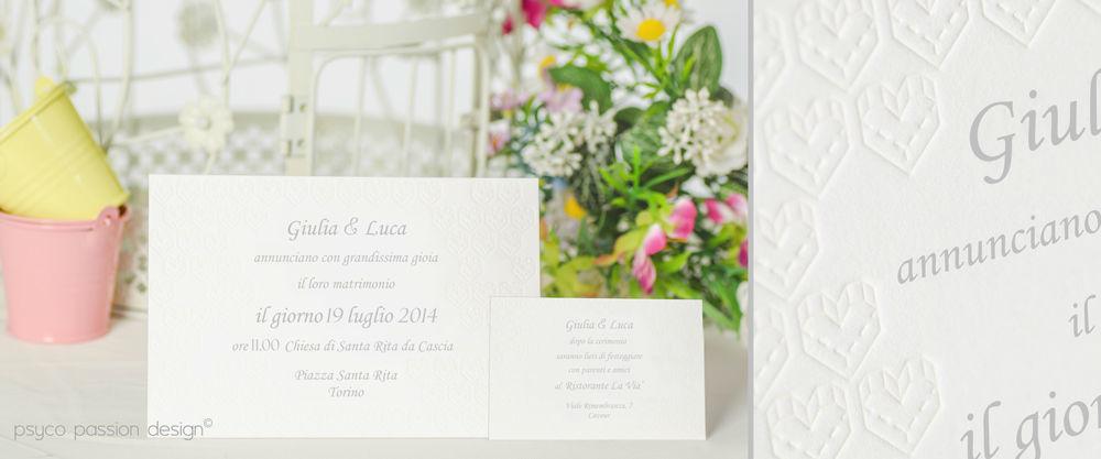 Invito matrimonio letterpress