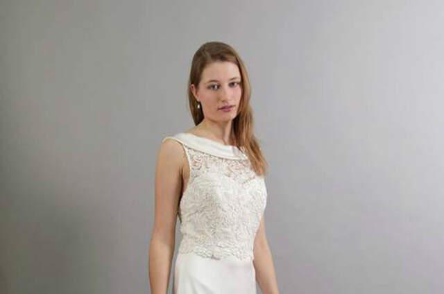 Silber und Seide Brautmode